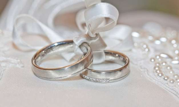 Remarkable White Gold Wedding Event Rings